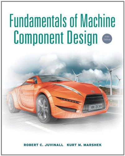 Fundamentals of Machine Component Design  5th 2011 edition cover
