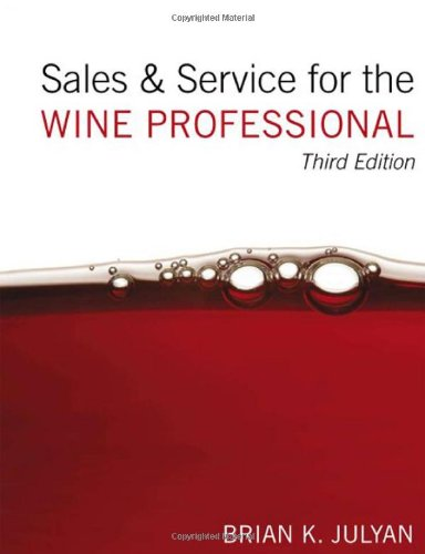 Sales and Service for the Wine Professional  3rd 2008 edition cover
