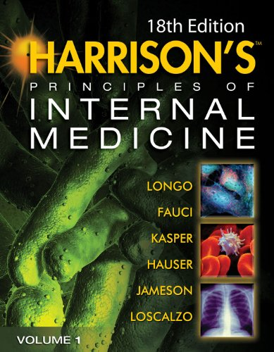 Harrison's Principles of Internal Medicine  18th 2011 edition cover