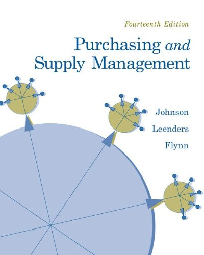 Purchasing and Supply Management  14th 2011 9780073377896 Front Cover