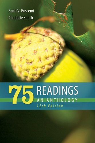 75 Readings an Anthology  12th 2013 edition cover
