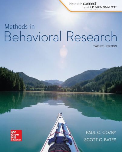 Methods in Behavioral Research 12th 2015 9780077861896 Front Cover
