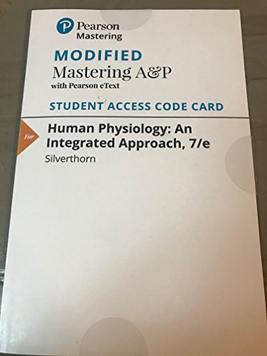 Modified MasteringA&P with Pearson eText - Valuepack Access Card - for Human Physiology: An Integrated Approach  2016 edition cover