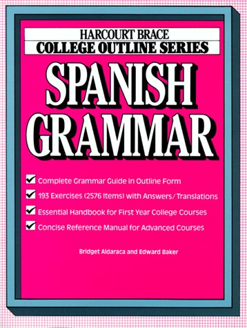 Spanish Grammar   1986 edition cover