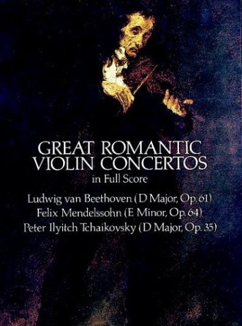 Great Romantic Violin Concertos in Full Score  N/A edition cover