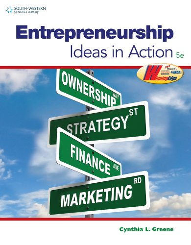 Entrepreneurship Ideas in Action 5th 2012 9780538496896 Front Cover