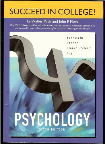 Psychology  6th 2003 9780618219896 Front Cover