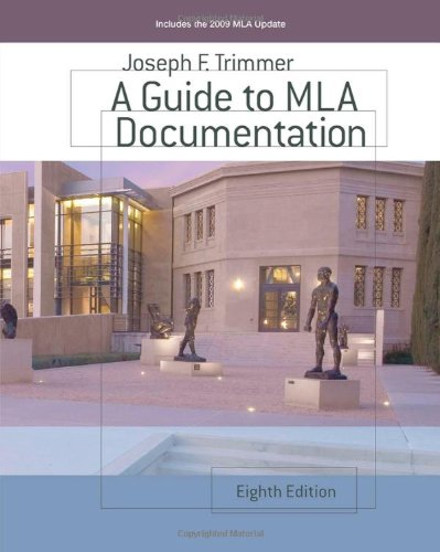 Guide to MLA Documentation  8th 2010 edition cover