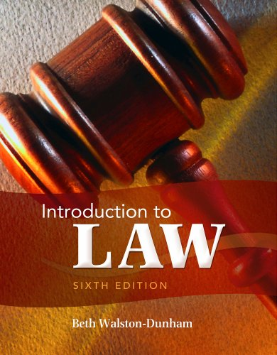 Introduction to Law  6th 2012 edition cover