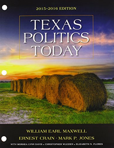 Texas Politics Today 2015-2016:   2015 9781305633896 Front Cover