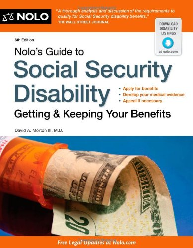 Nolo's Guide to Social Security Disability Getting and Keeping Your Benefits 6th 2012 (Revised) edition cover