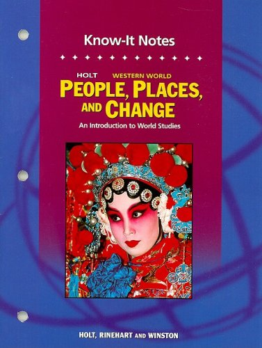 People, Places, and Change An Introduction to World Studies 5th 9780030391897 Front Cover