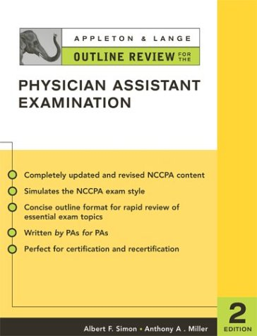 Physician Assistant Examination  2nd 2004 (Revised) edition cover