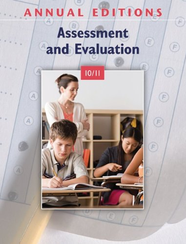 Assessment and Evaluation 10/11   2010 9780078135897 Front Cover