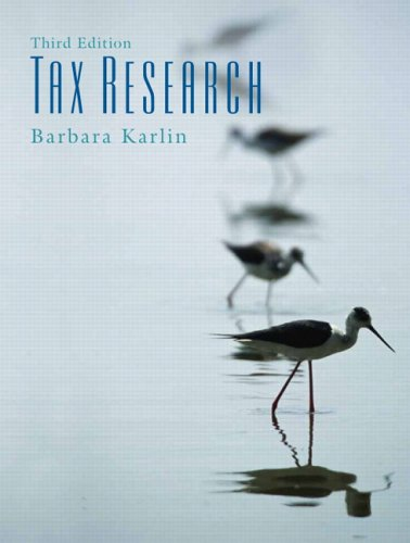 Tax Research  3rd 2006 (Revised) 9780131496897 Front Cover