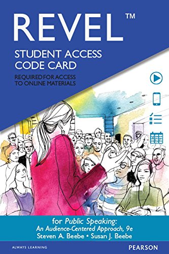 Public Speaking - Revel Access Code: An Audience-Centered Approach 9th 2014 9780133869897 Front Cover