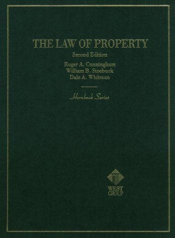 Hornbook on the Law of Property 2nd 9780314013897 Front Cover