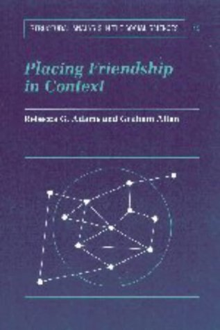 Placing Friendship in Context   1999 edition cover