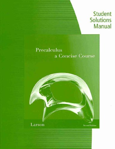 Precalculus A Concise Course 2nd 2011 9780538738897 Front Cover
