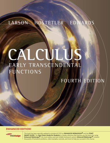 Calculus Early Transcendental Functions, Enhanced Edition (with Enhanced WebAssign 1-Semester Printed Access Card) 4th 2010 edition cover