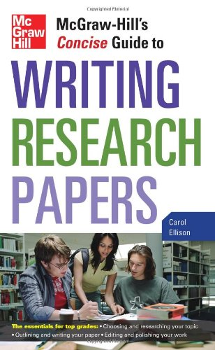 McGraw-Hill's Concise Guide to Writing Research Papers   2010 edition cover