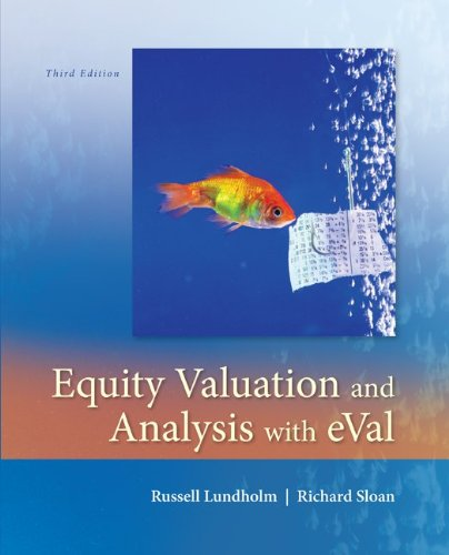 Equity Valuation and Analysis with eVal  3rd 2013 edition cover