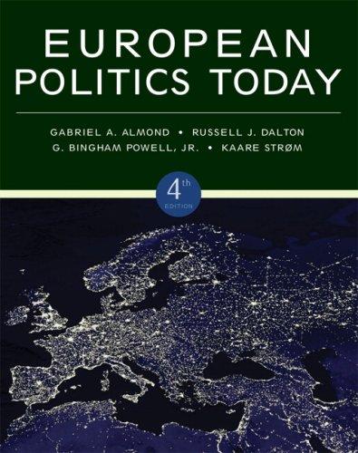 European Politics Today  4th 2010 edition cover