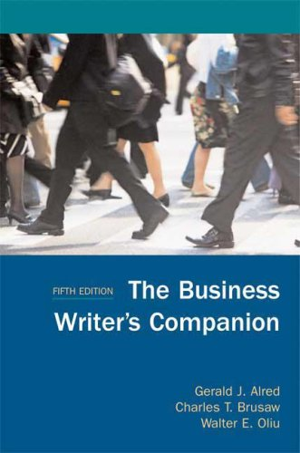 Business Writer's Companion  5th 2008 9780312461898 Front Cover