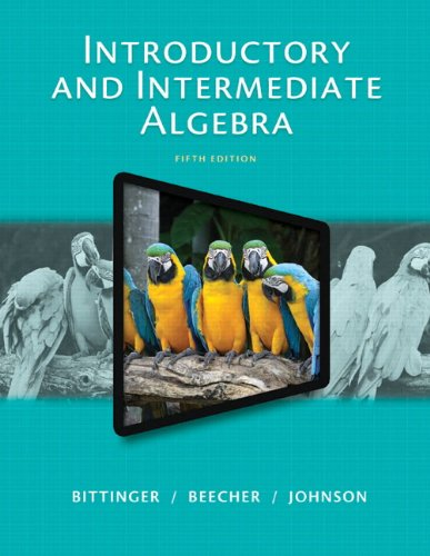 Introductory and Intermediate Algebra  5th 2015 edition cover
