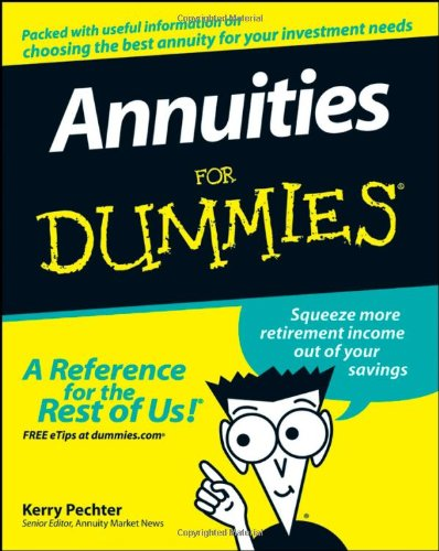 Annuities for Dummies   2008 edition cover