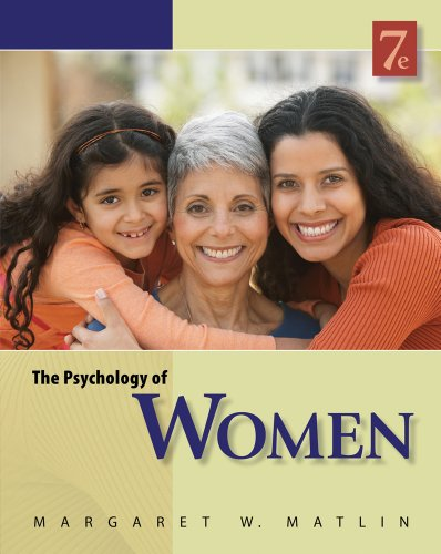 Psychology of Women  7th 2012 edition cover