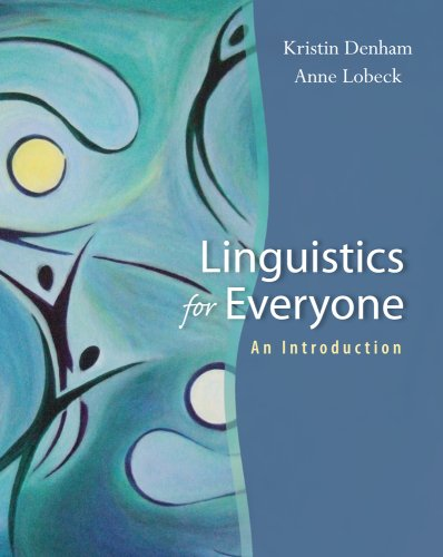 Linguistics for Everyone An Introduction  2010 edition cover