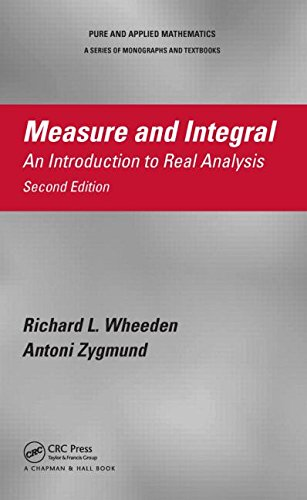 Measure and Integral An Introduction to Real Analysis, Second Edition 2nd 2015 (Revised) edition cover