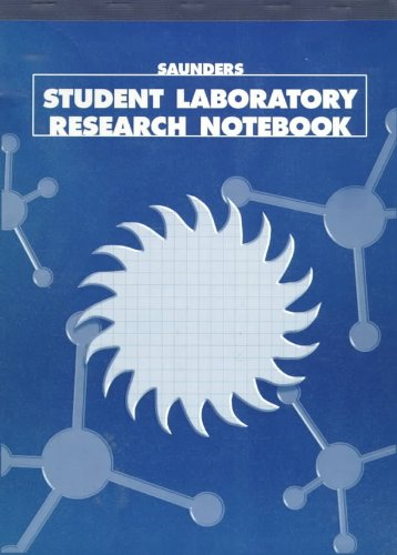 Saunders Student Laboratory Research Notebook   1998 9780030272899 Front Cover