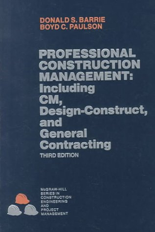 Professional Construction Management  3rd 1992 edition cover