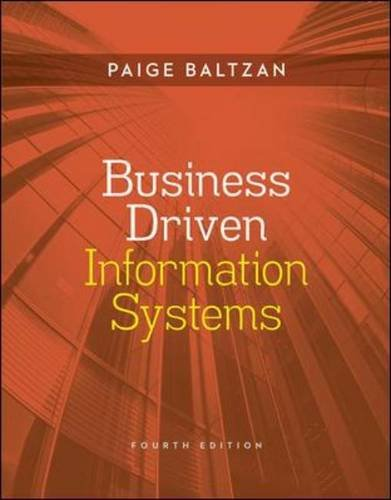 Business Driven Information Systems  4th 2014 9780073376899 Front Cover