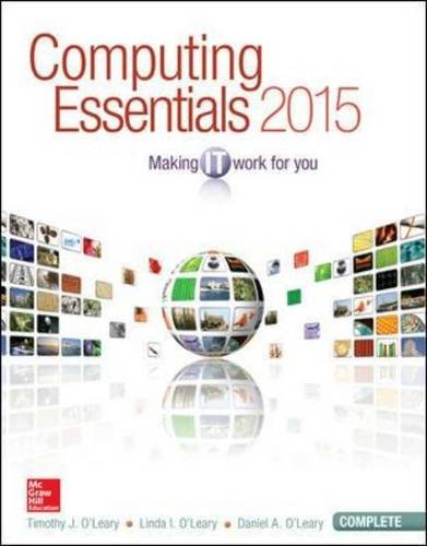 Computing Essentials 2015 Making It Work for You 25th 2015 edition cover