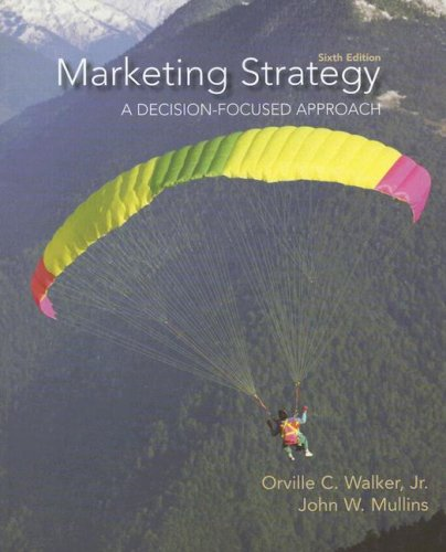 Marketing Strategy A Decision Focused Approach 6th 2008 9780073529899 Front Cover