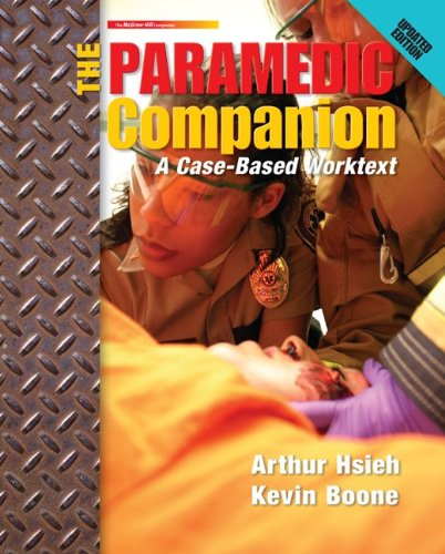 Paramedic Companion Updated Ed A Case-Based Worktext  2012 edition cover