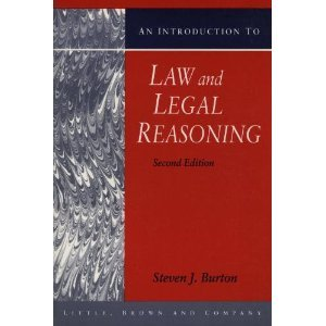 Introduction to Law and Legal Reasoning  2nd 1995 (Revised) edition cover