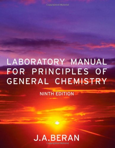 Principles of General Chemistry  9th 2011 (Lab Manual) edition cover