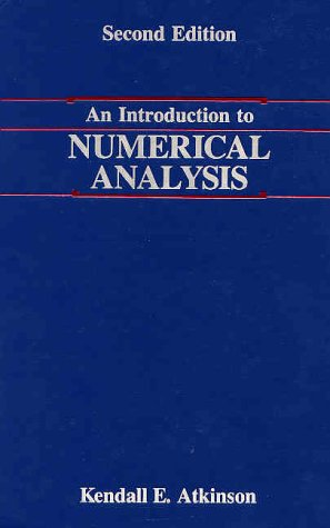 Introduction to Numerical Analysis  2nd 1989 (Revised) edition cover