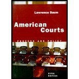 American Courts Process and Policy 5th 2002 edition cover