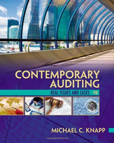 Contemporary Auditing  9th 2013 edition cover