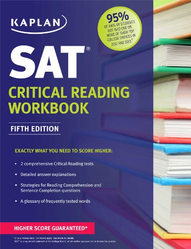 Kaplan Sat Critical Reading Workbook  5th edition cover