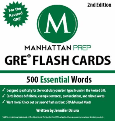 500 Essential Words GRE� Flash Cards 2nd (Revised) 9781935707899 Front Cover