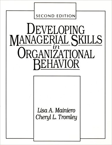 Developing Managerial Skills in Organizational Behavior Exercises, Cases, and Readings 2nd 1994 9780132081900 Front Cover