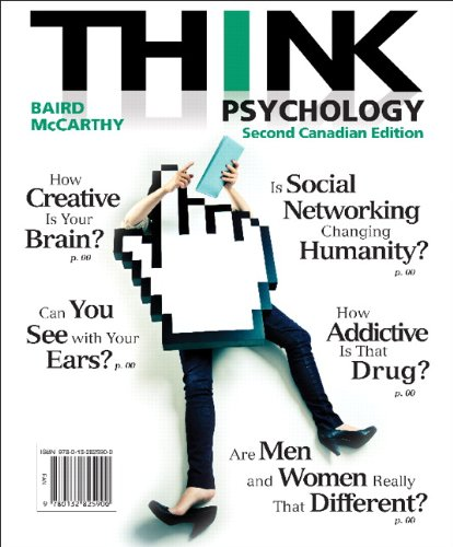 THINK Psychology, Second Canadian Edition  2nd 2014 9780132825900 Front Cover