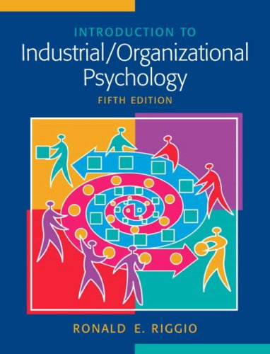 Introduction to Industrial/Organizational Psychology  5th 2008 edition cover