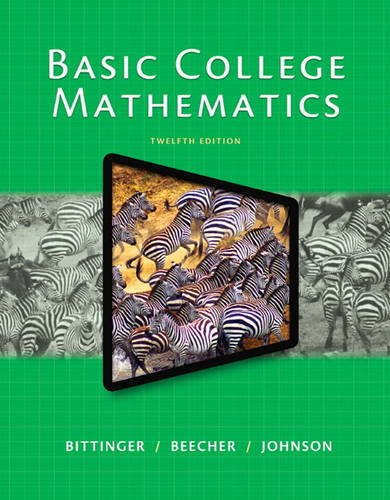 Basic College Mathematics  12th 2015 edition cover